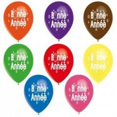 Ballon Bonne Année couleurs assorties les 10