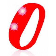 Bracelet lumineux mouvement silicone Rouge