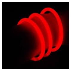 Bracelet fluo Rouge le cent