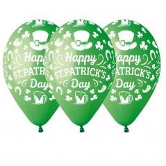 Ballon St Patrick diam 30 le cent