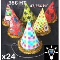 Chapeau Pointu Lumineux pvc avec élastique