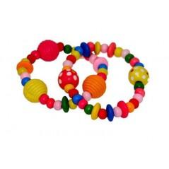 Bracelet perles en bois