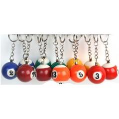 12 Porte clés Boule de billard 3.2 cm