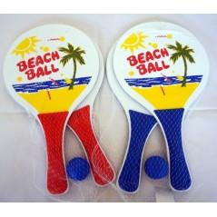 Raquettes beach ball 34 x 19 cm + 1 balle Plein air  2,06 €