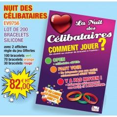 Nuit des célibataires lot de 200 bracelets