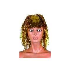 Perruque métallisée pour une soirée Disco , l'indispensable perruque disco.