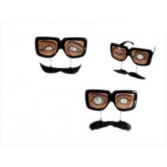 Lunettes de fête Moustache env 14 cm