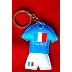 12 Porte clés maillot foot France 7 cm
