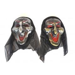 Masque sorcière avec capuche