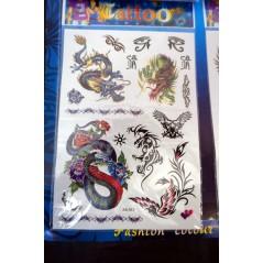 Planche de 16 Tatoos Garçons Animaux et Tatoos 0,15 €