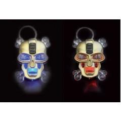 12 Porte clés tête robot lumineux 45 mm