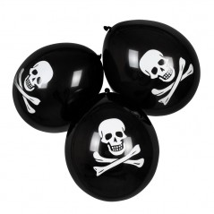 Ballon pirate (sachet de 6) 25cm