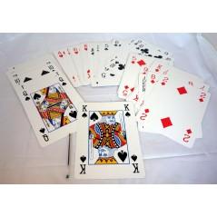Jeu de 54 cartes XXL 20 x 28 cm