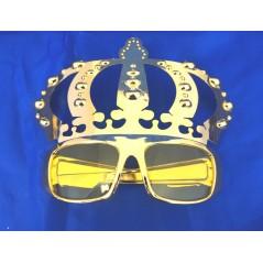 pour une soirée de Roi réussie, lunette roi or