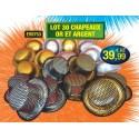 Lot 30 Chapeaux or et argent