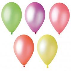 Sachet 100 ballons Fluo diamètre 26 cm assort