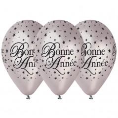 """Ballons""""Bonne Année""""Argent"""