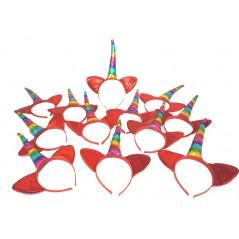 12 Serre-têtes Licorne Multicolore
