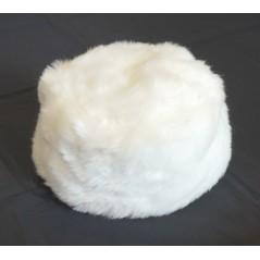 Toque fourrure blanche synthétique