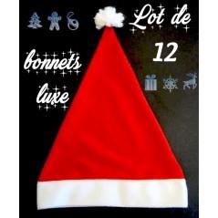 Bonnet Noël velours VIP lot de 12