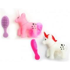 Licorne à coiffer 6 cm + accessoires Jeux filles 0,33 €