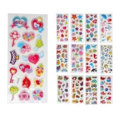 stickers déco assortis 3D Jeux filles 0,20 €