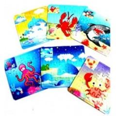 Puzzle Animaux 12x9 cm Pêche mixte 0,33 €