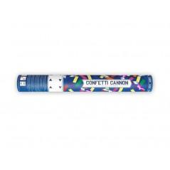 Canon à confettis rectangulaires multi 40 cm