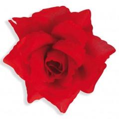 Broche - Boutonnière fleur rouge 10 cm Accessoires 0,52 €