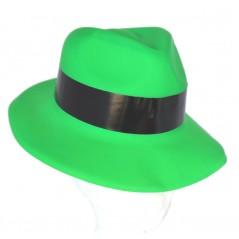 Chapeau gangster vert plastic Chapeaux 1,12 €