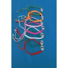 Bracelet Fantaisie Tête de mort couleurs ass. Pirate & Corsaire 1,30 €