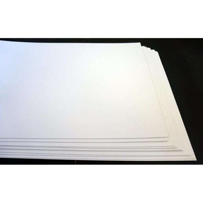 Carton 1 face blanche 53X76 -12/10 Papier dessin - Gommettes 2,00 €