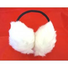 Cache oreille en fourrure Blanc