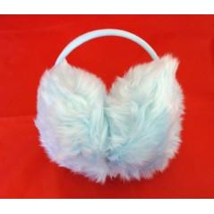 Cache oreille en fourrure Bleu clair