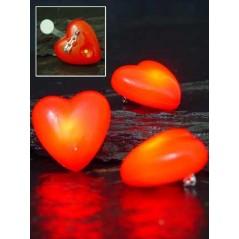 Coeur sur broche lumineux/clignotant avec pile