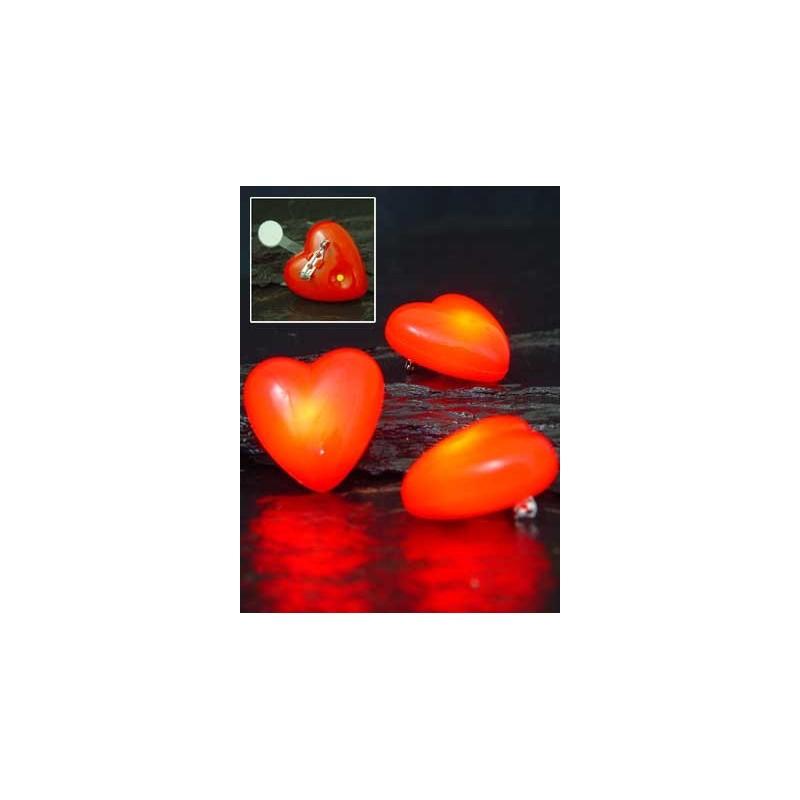 Coeur sur broche lumineux/clignotant avec pile Fluos / Lumineux 2,32 €