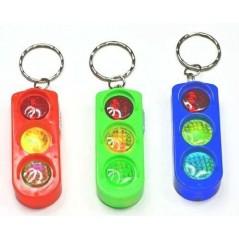 Porte clés feux tricolores lumineux les 12