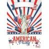 Affiche Américan Party 42 x 29/7 cm