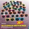25 paires de lunettes enfant soleil