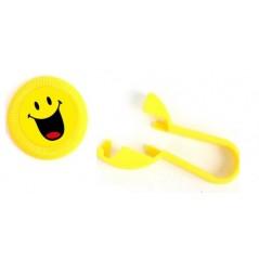 Jeu lance disque Smiley 8 cm