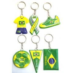 12 Porte clés Brésil 6 cm (modèles assortis)